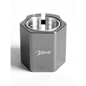 Drone 'Didi' Hive Double Clamp - Smoked Chrome