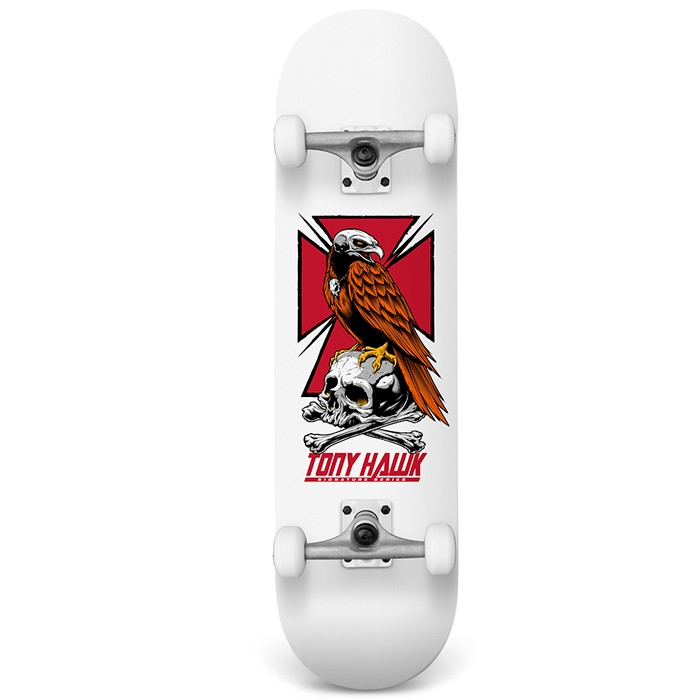 "Tony Hawk 7,75"" Skateboard Full Hawk - White"