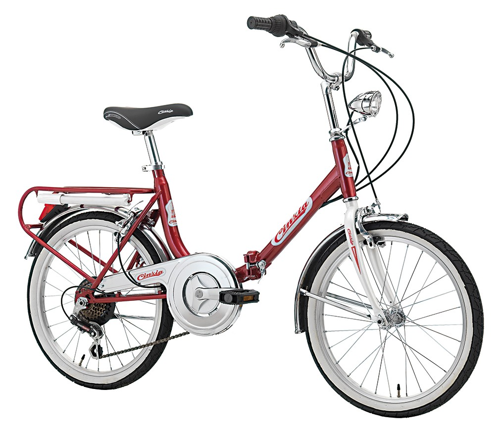Firenze Hi-Tension skladací bicykel 20 - bordovo / biely (SKLADACí BICYKEL)