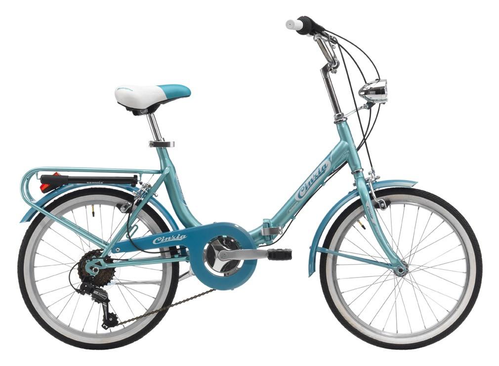 Firenze Hi-Tension skladací bicykel 20- modro / biely (SKLADACí BICYKEL)