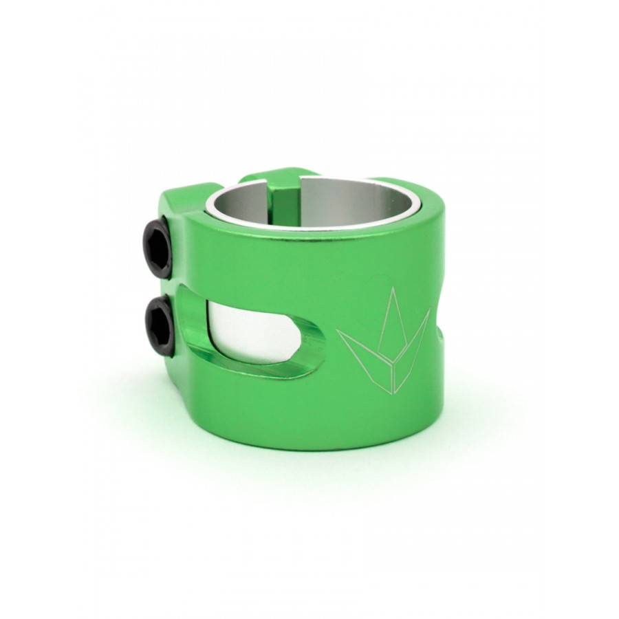 Blunt 2 Bolts Twin Slit Clamp - Green