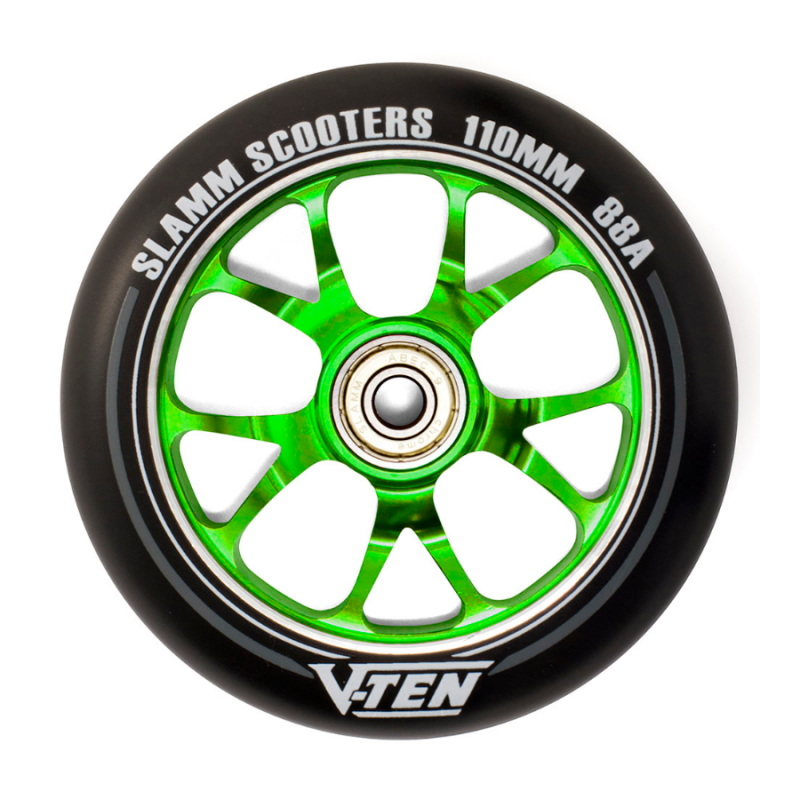 Slamm V-Ten II 110mm Wheels - Green