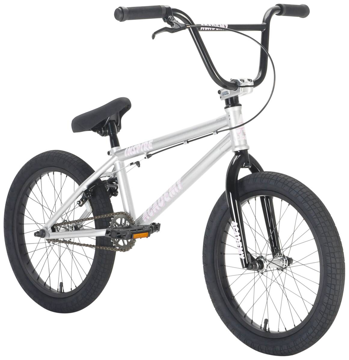 "Academy Inspire 18"" 2021 BMX Freestyle Bike - Silver/Black"