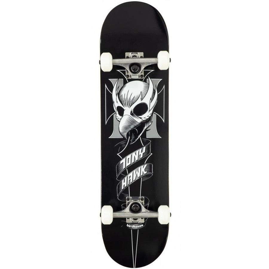 "Birdhouse Stage 1 Crest 8"" Skateboard - Black"