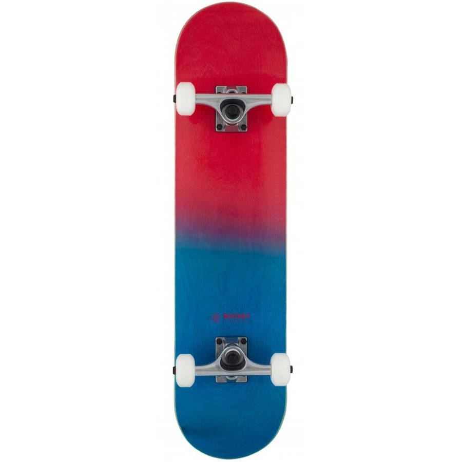"Rocket Double Dipped 7.5"" Skateboard - Red"