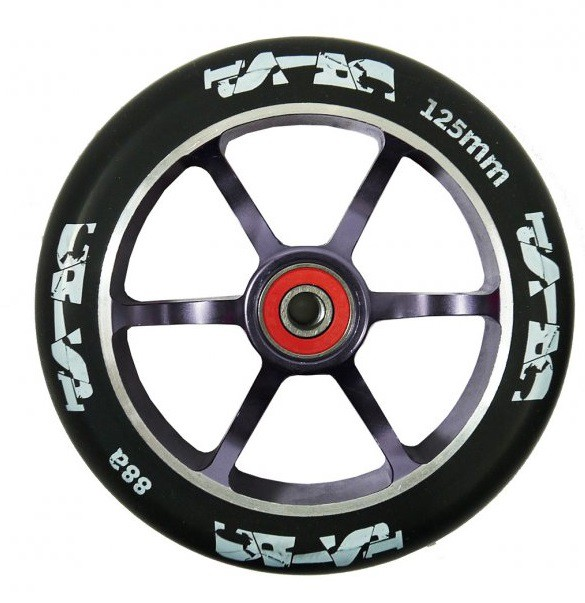 Crisp 125 mm Drilled Wheel Titanium/Black