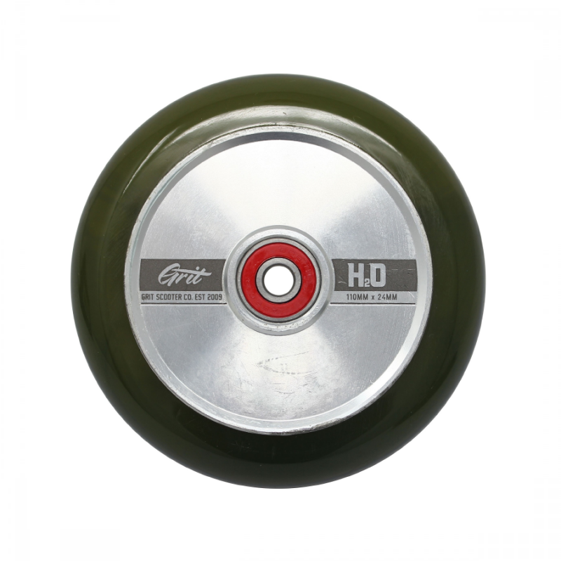 Grit H2O Hollow Core 110x24 mm Wheel - Translucent/Olive