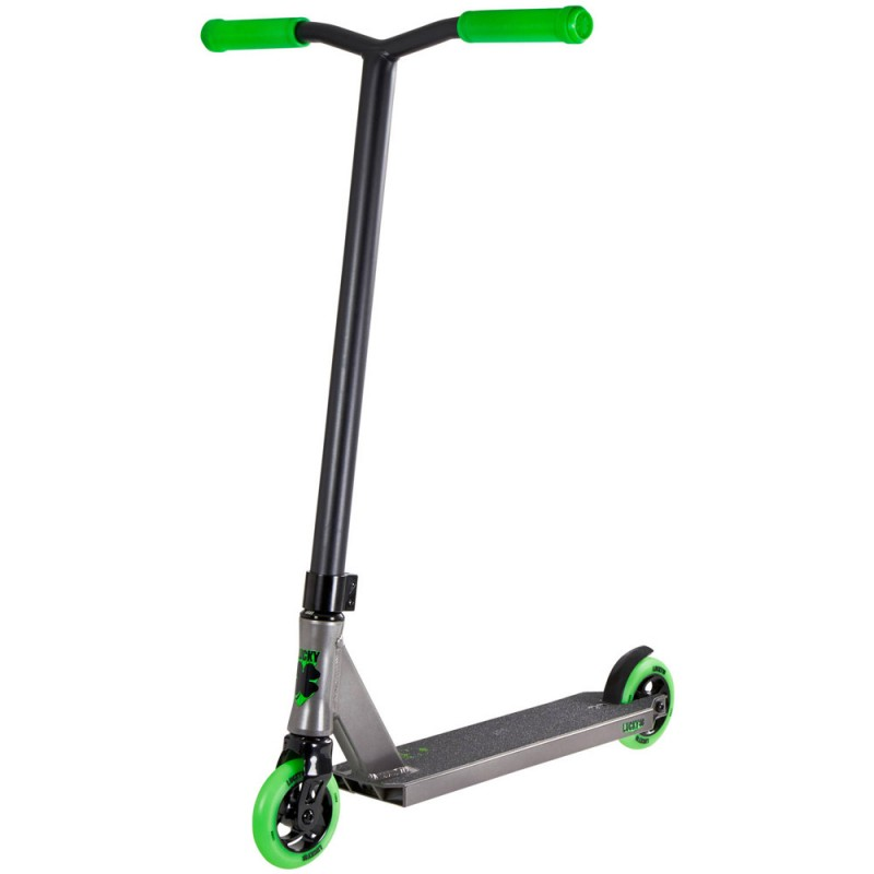 Lucky Crew 2018 Pro Complete Scooter - Grey / Green