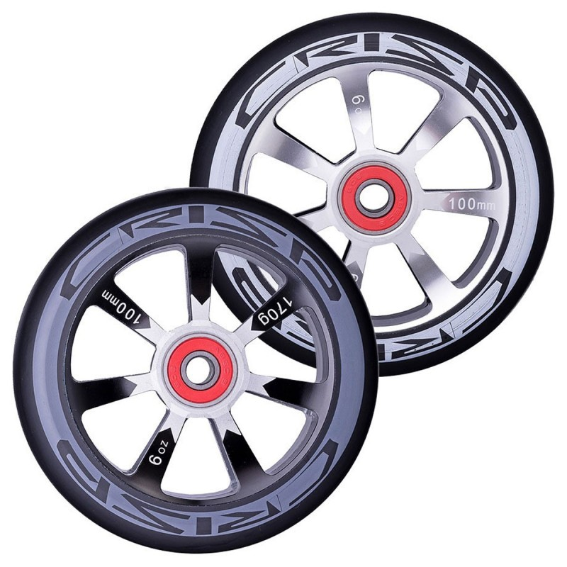 2 ks Crisp Hollowtech 100 mm Wheel - Black / Black