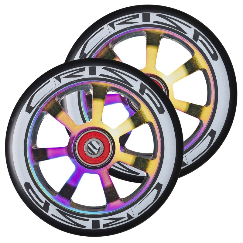 2ks Crisp Hollowtech 100 mm Wheel - Oil Slick / Black