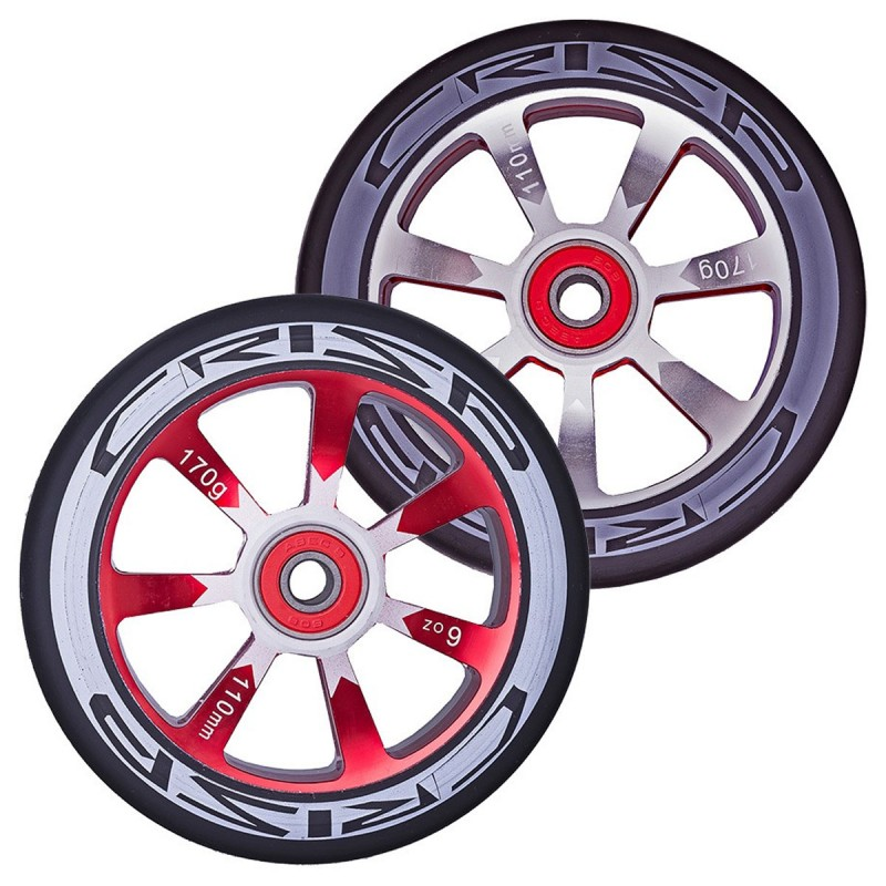 2ks Crisp Hollowtech 100 mm Wheel - Red / Black