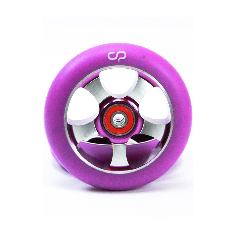 Crisp 5 Spoke 100mm Metal Core Wheel - Purple Purple