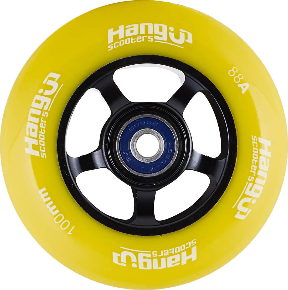HangUp Alu Core 100mm Pro Scooter Wheel - žlté