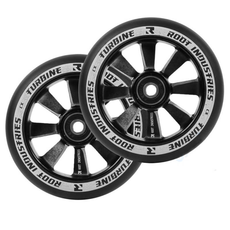 2 KS Root Industries Turbine Wheels 110 mm - Black