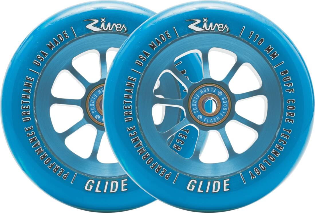 River Naturals Glide Pro Scooter Wheels 2-Pack - Shappire