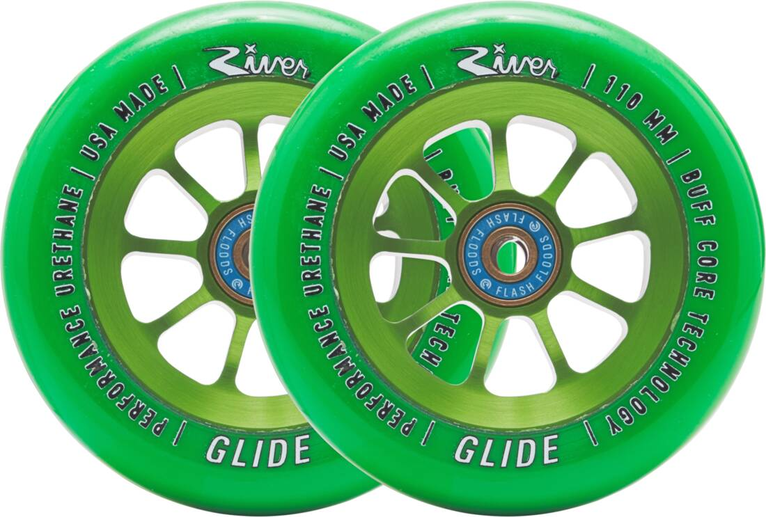 River Naturals Glide Pro Scooter Wheels 2-Pack - Emerald