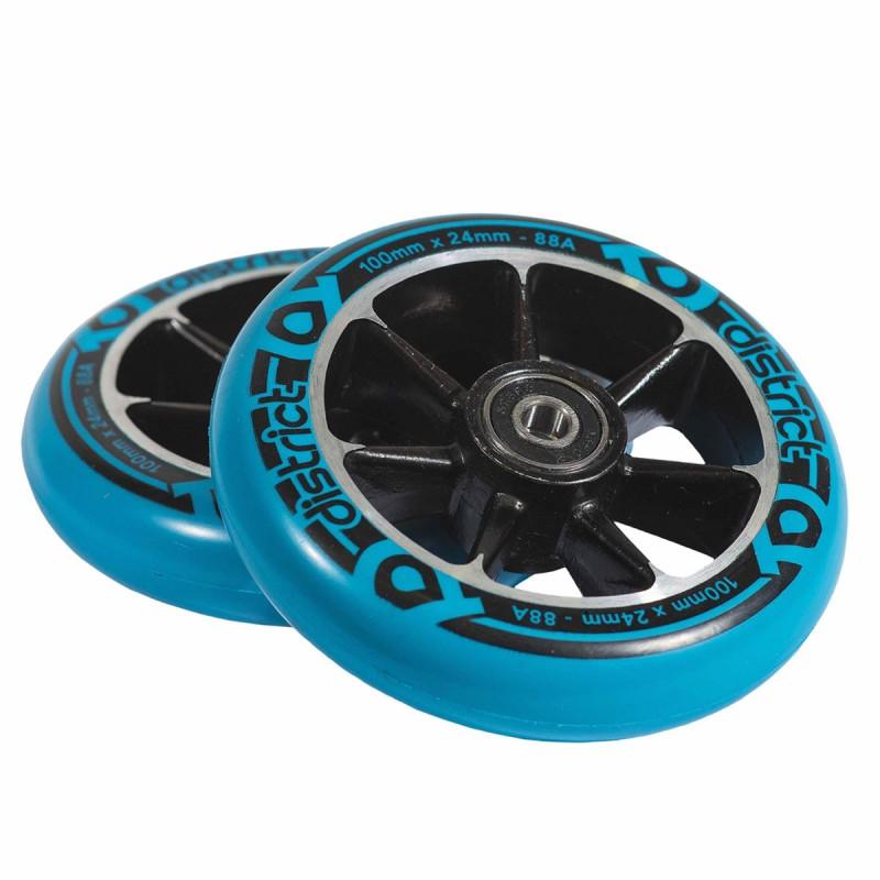 District W-series Wheel 100 mm - Blue, 2ks
