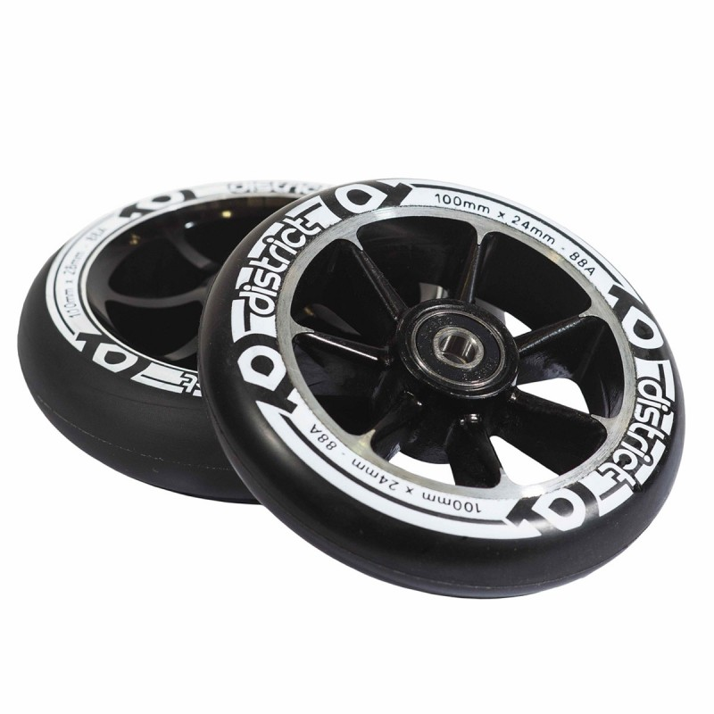 District W-series Wheel 100 mm - Black 2ks