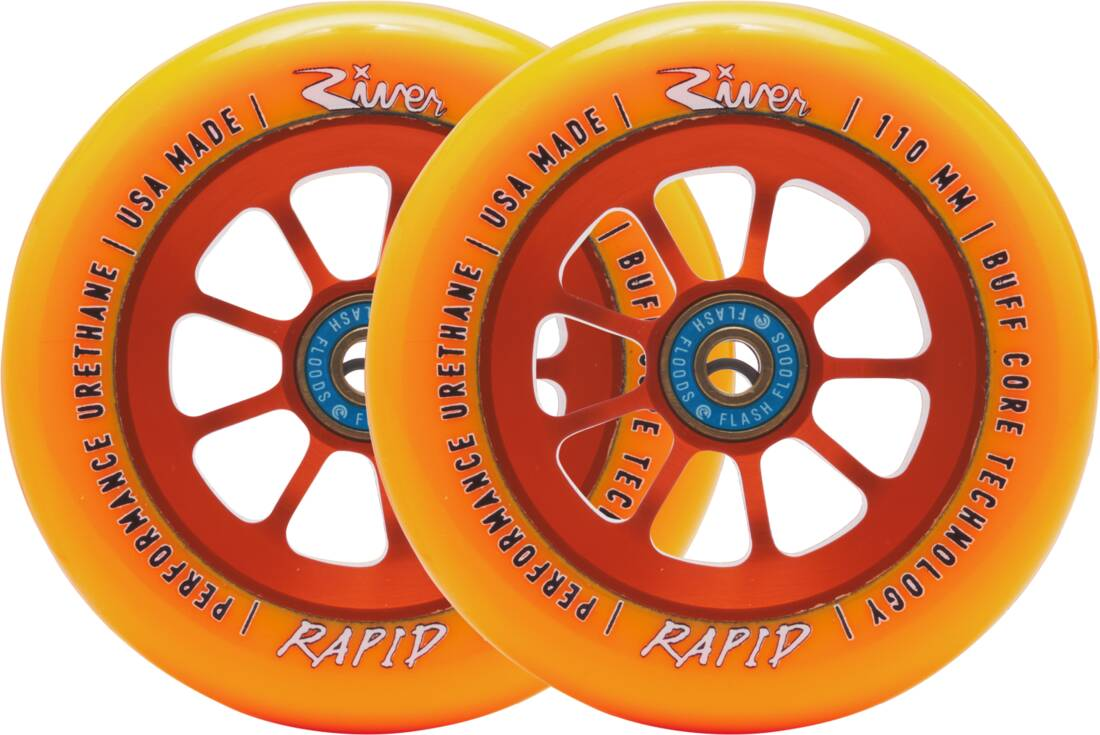 River Naturals Rapid Pro Scooter Wheels 2-Pack - Sunset