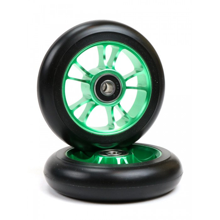 Blunt 10 Spokes Wheel 100mm - Green