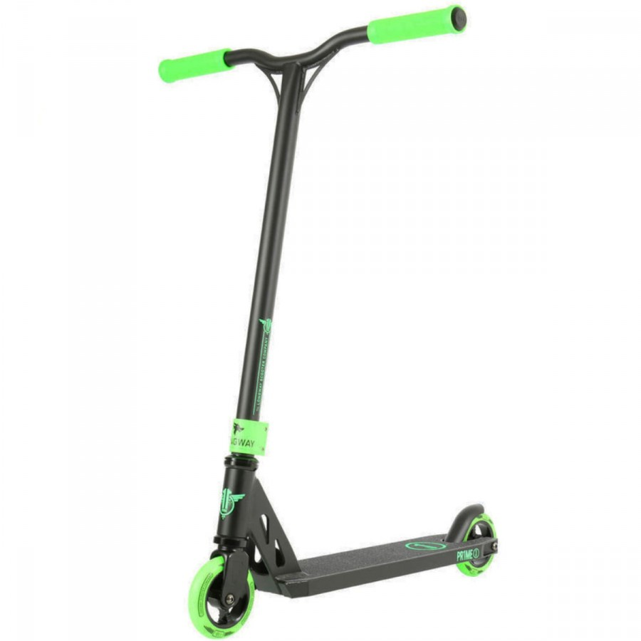 Longway Prime Scooter - Black / Green