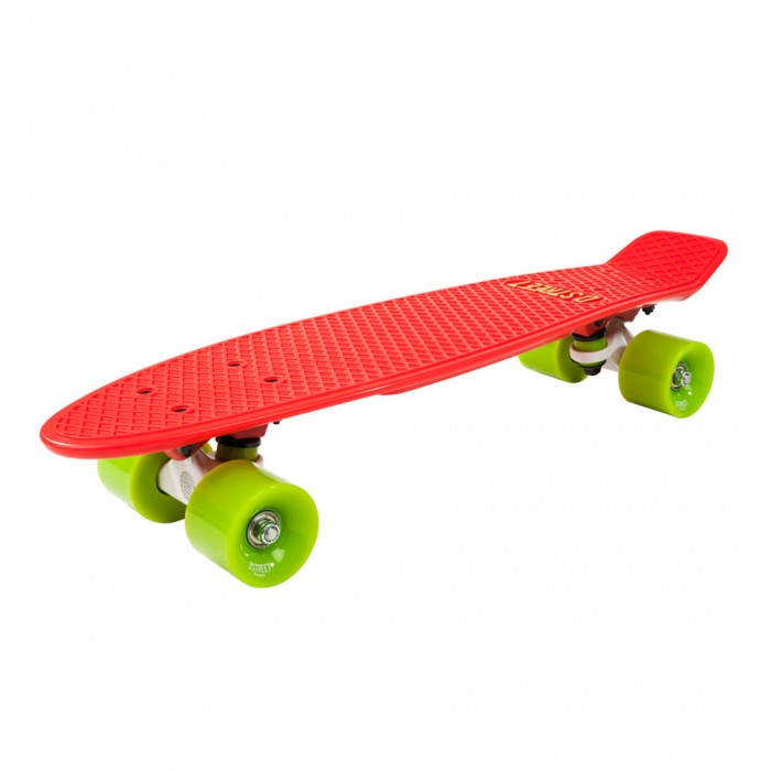 D Street 3rd Gen Polyprop Cruiser - Red / Green