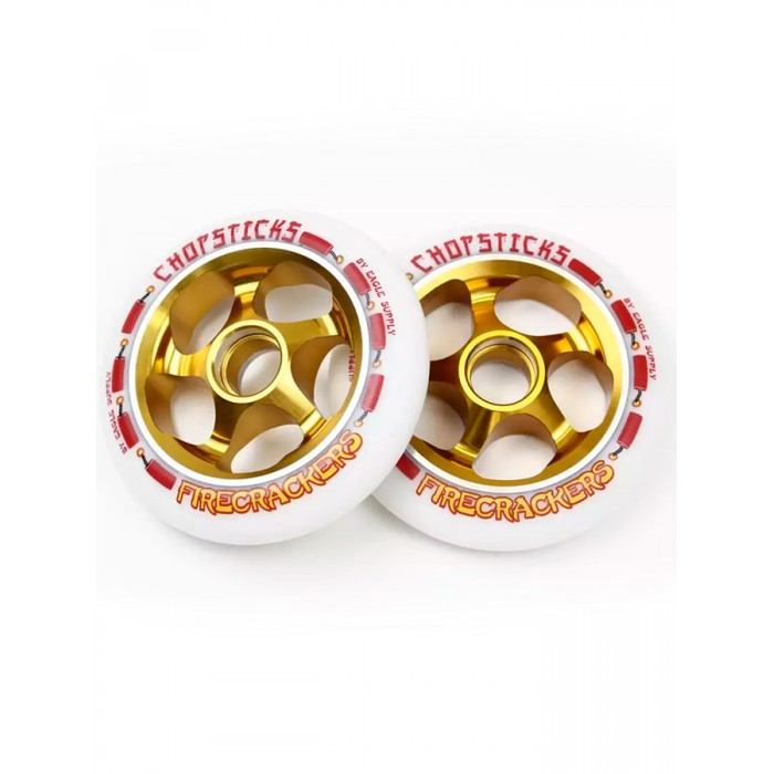 Eagle ChopSticks Firecrackers Wheel 110mm - White
