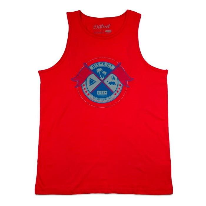 District Supply Co Seal Tank Top - Red