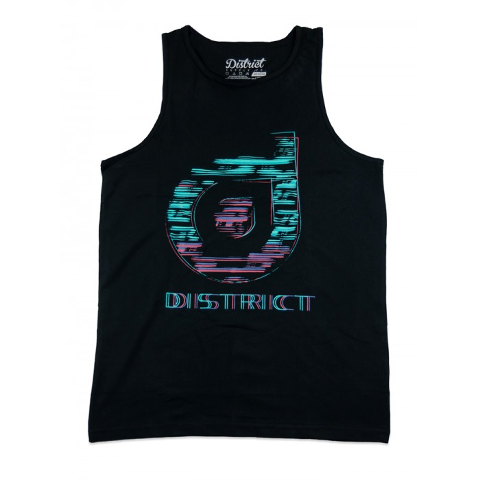 District Supply Co Sketch Tank Top - Black