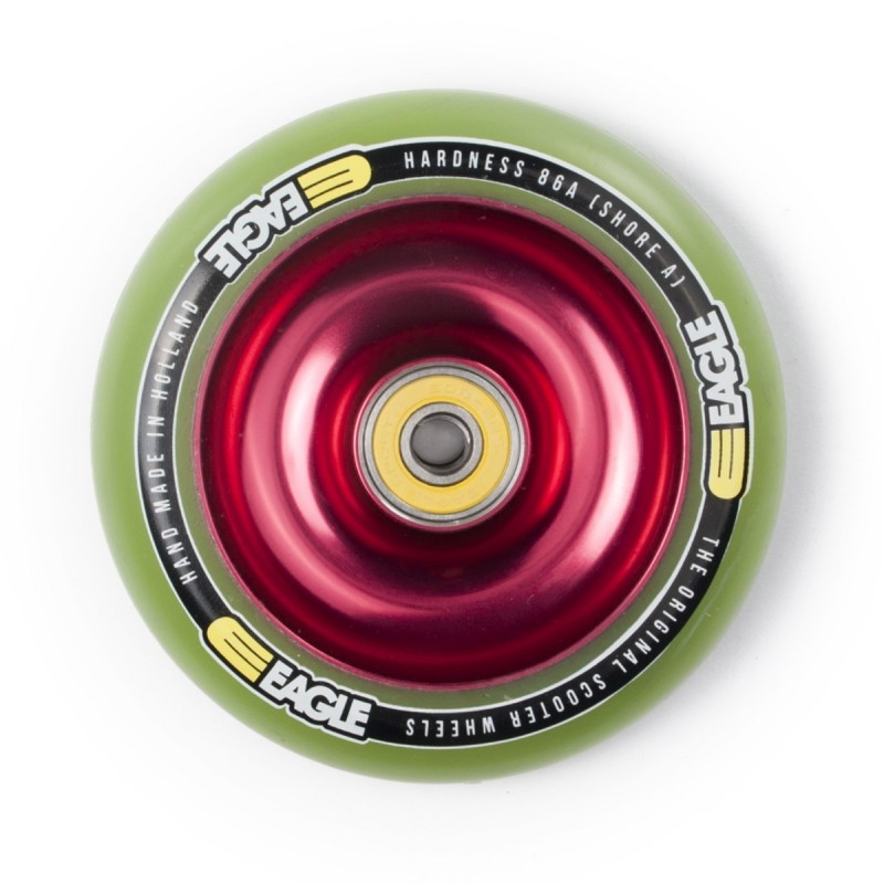 Eagle Sport Red Fullcore Wheel 100mm - Green