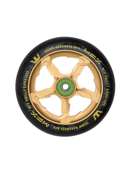 MGP MFX RWilly Hurricane Signature 120mm Wheel - Black / Gold