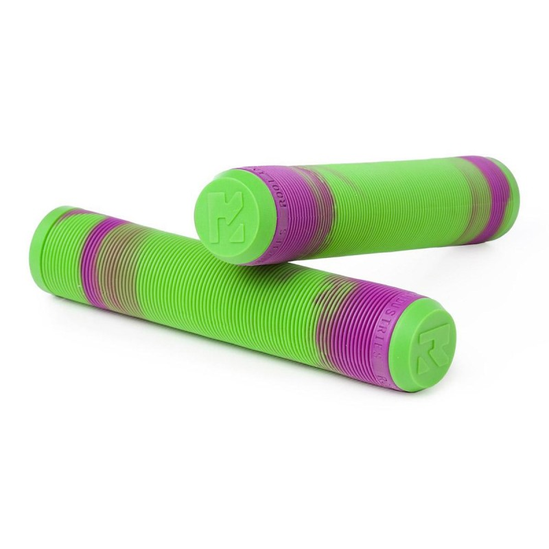Root Industries Air Mixed Grips - Green / Purple