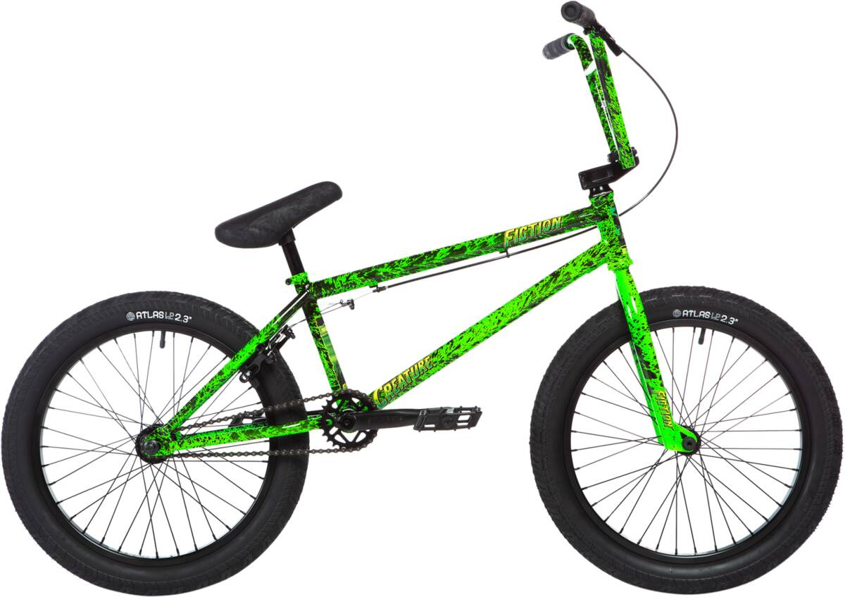 "Stolen X Fiction Creature 20"" 2020 BMX Freestyle Bike - Toxic Green Splatter"