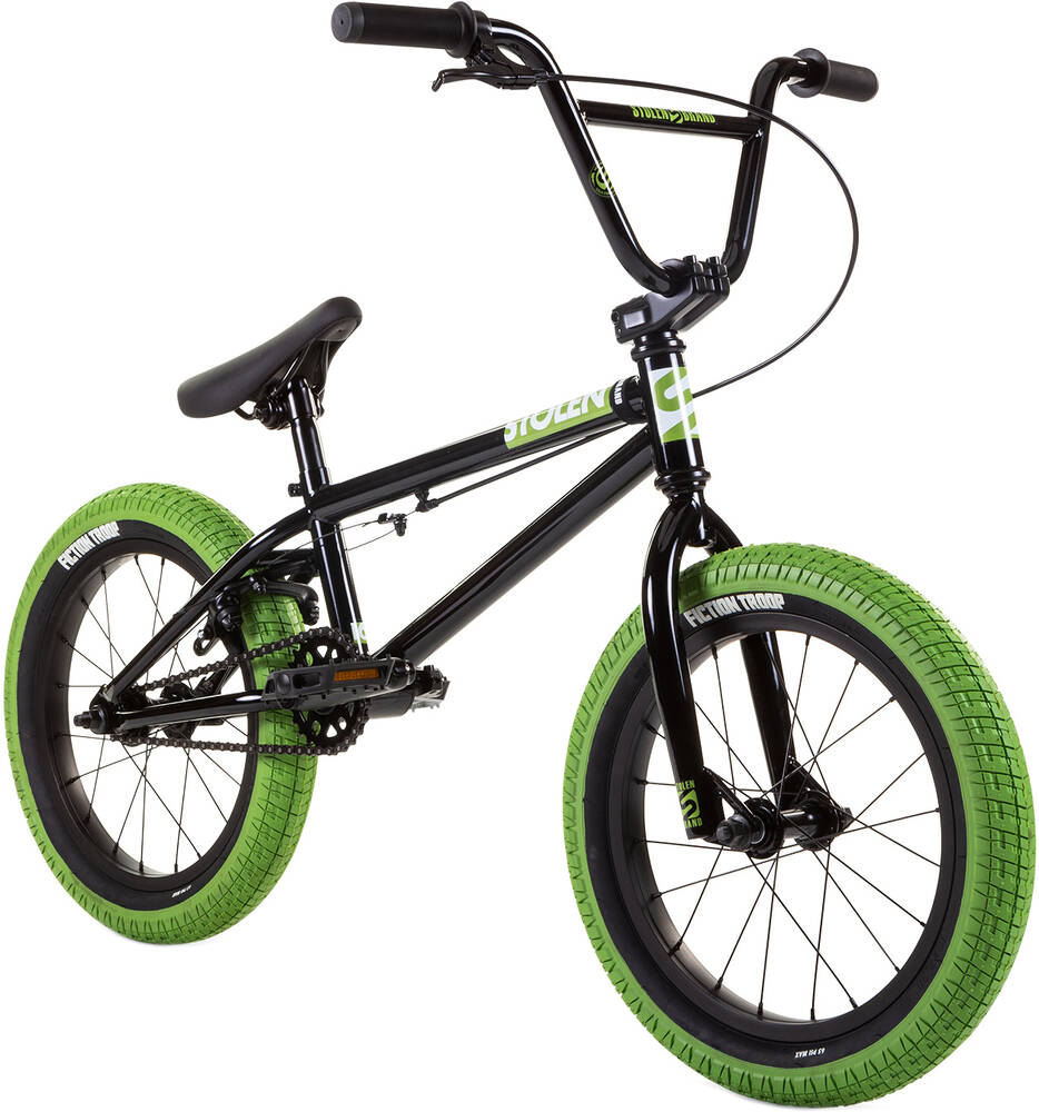 "Stolen Agent 16"" 2021 BMX Freestyle Bike- Black"