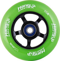 HangUp Alu Core 100mm Pro Scooter Wheel - zelené