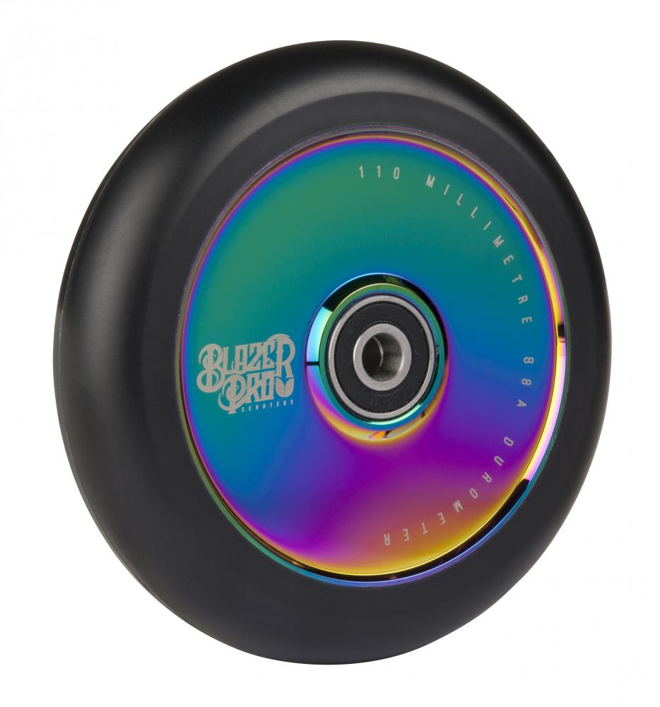 Blazer Pro Scooter Wheel 110 mm , ABEC 11 Hollow Core-  Neochrome 1 ks.