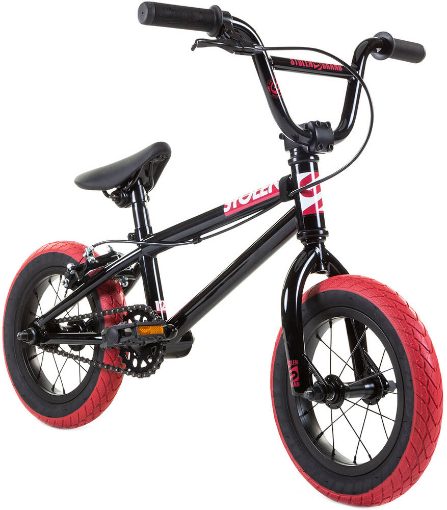 "Stolen Agent 12"" 2021 BMX Bike For Kids- Black"