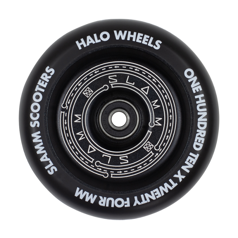 Slamm Halo Deep Dish 110mm Wheel - Black