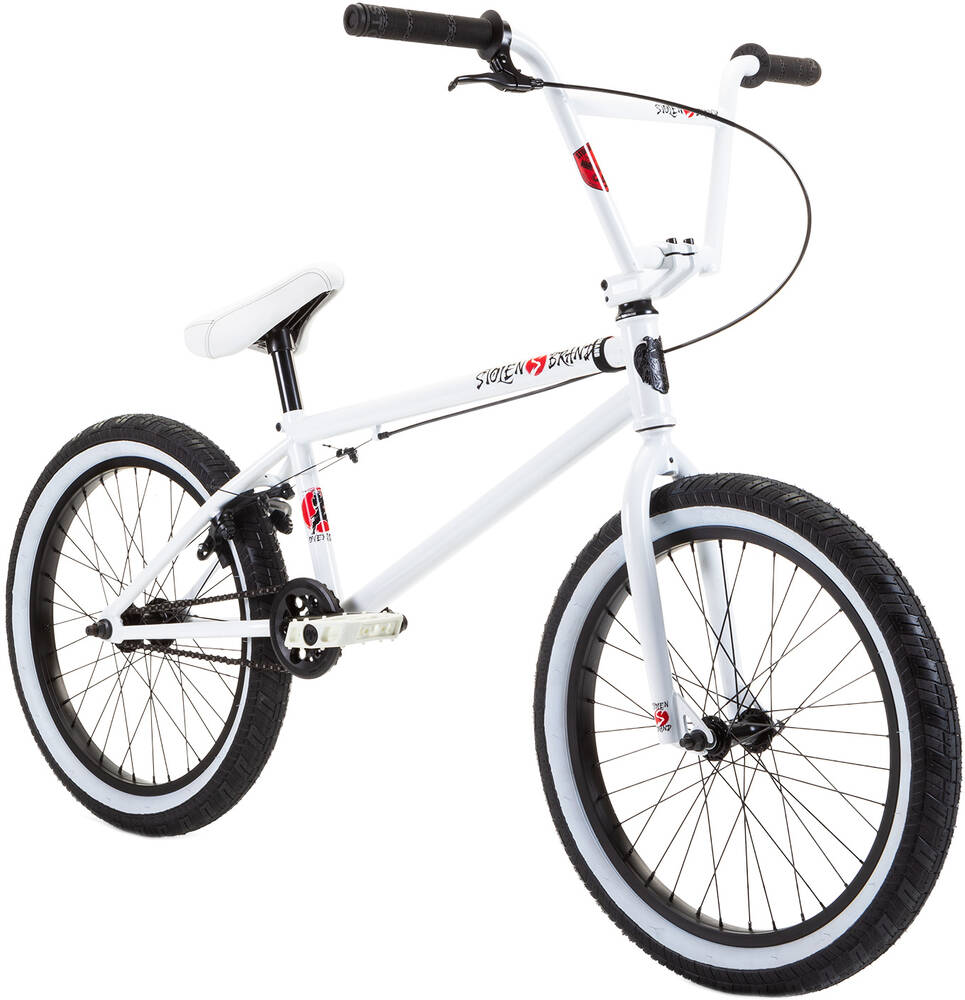 "Stolen Overlord 20"" 2021 BMX Freestyle Bike - Snow Blind"