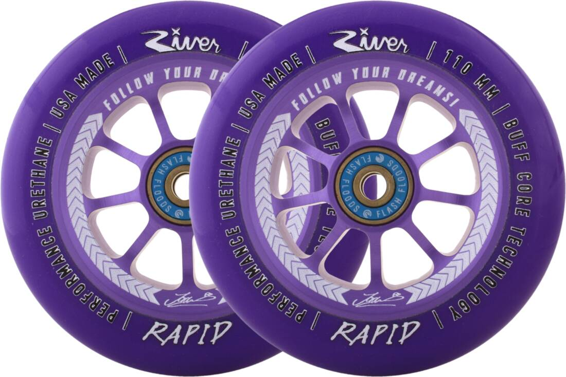 River Rapid Signature Pro Scooter Wheels 2-Pack - Jordan Clark
