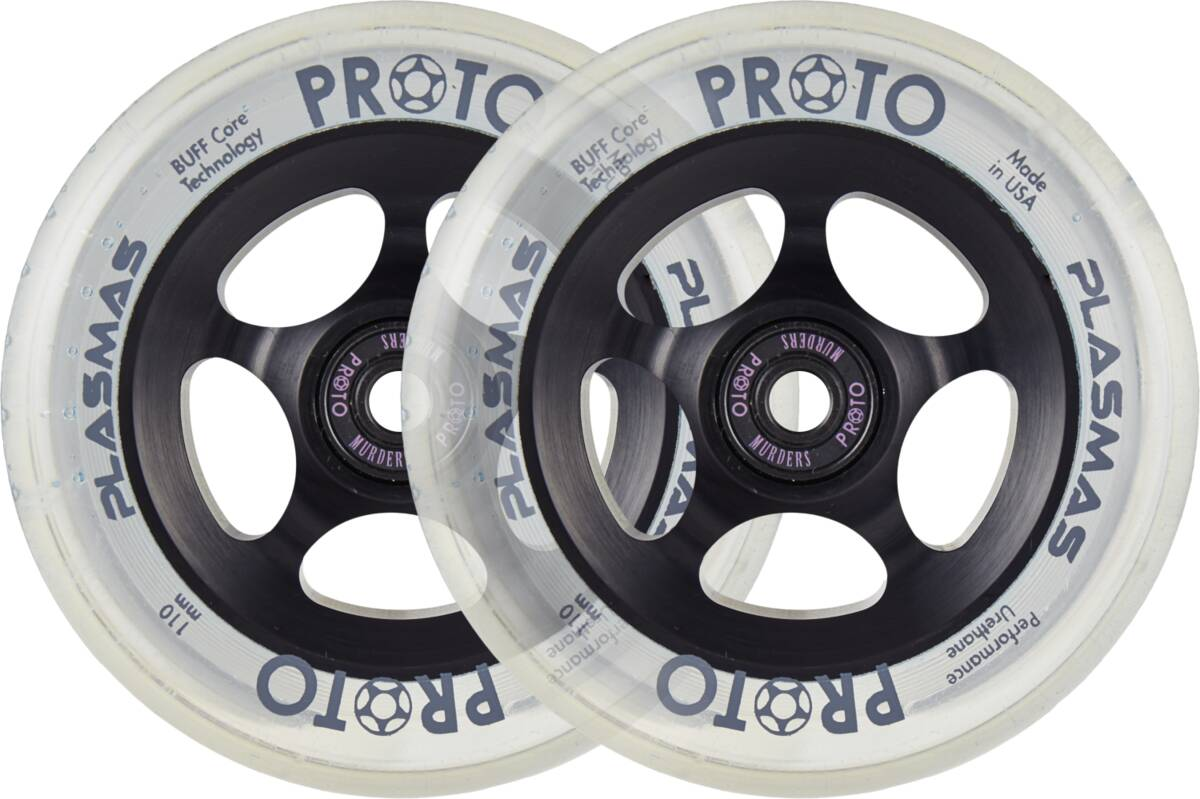 Proto Plasma Pro Scooter Wheels 2-Pack 110mm - Black Matter