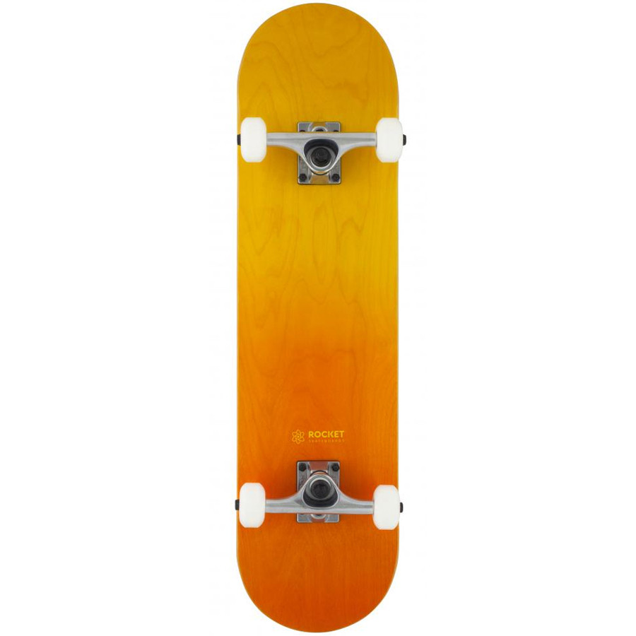 "Rocket Double Dipped 8"" Skateboard - Orange"