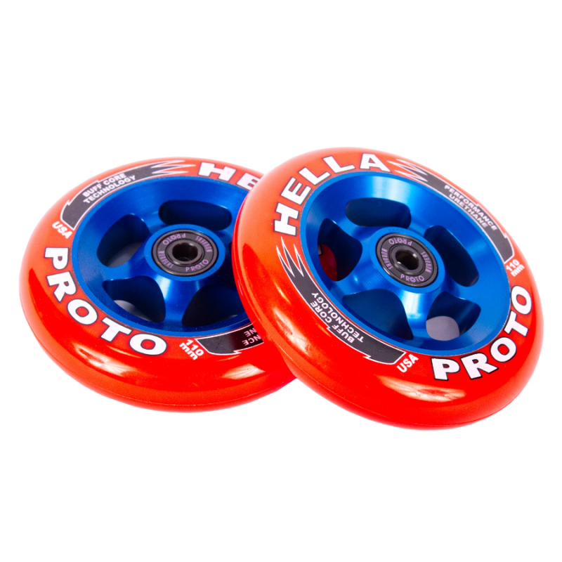 Proto X Hella Grip 110mm Wheels - Red/Blue