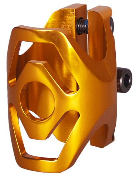 District Triple Light Clamp Standard Gold