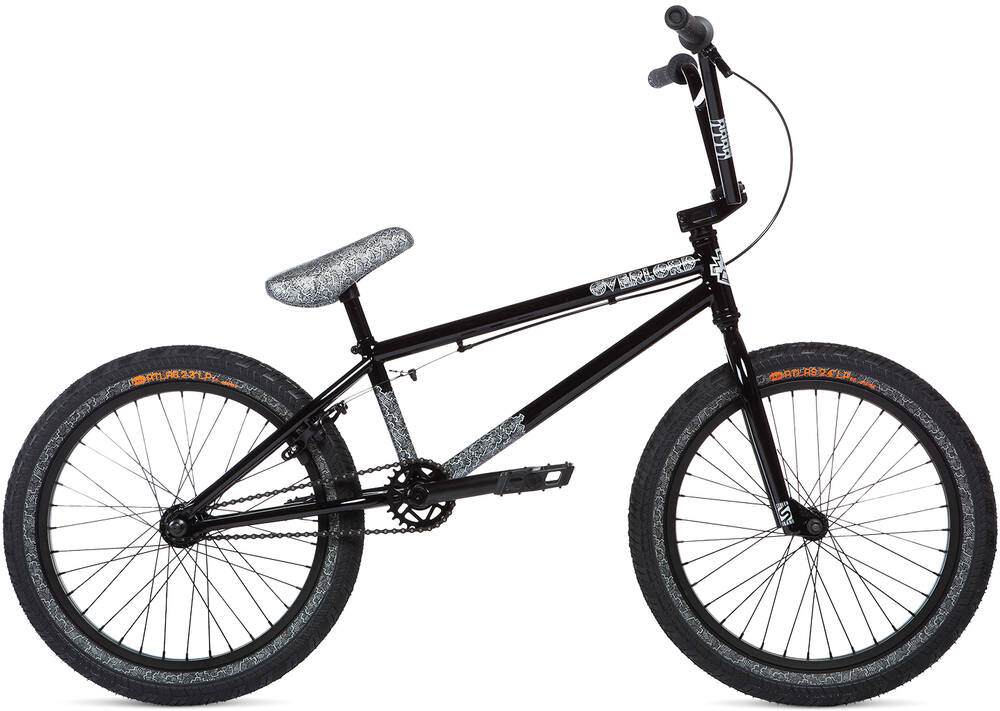 "Stolen x Fiction Overlord 20"" 2020 BMX Freestyle Bike  - Black W/ Reflective Gre"